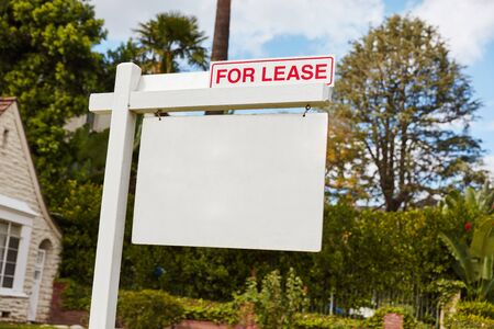 renter: For lease sign on real estate in California, USA