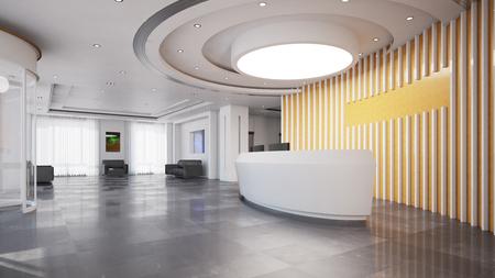 Empfang oder Check-in in einem eleganten, modernen Businesshotel Standard-Bild - 76786309