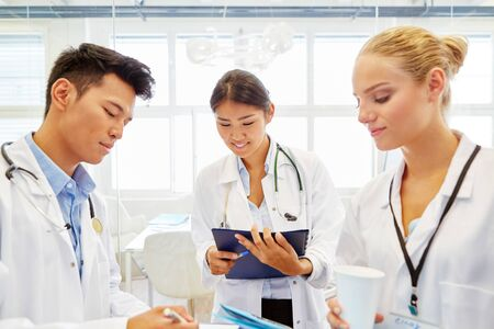 medical doctors: Young doctors making medical apprenticeship in hospital Stock Photo