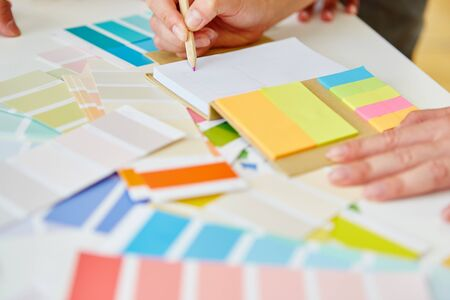 Colorful notepad for brainstorming in creative workshop 免版税图像