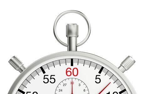 Top part of mechanical metal stopwatch (3D Rendering)
