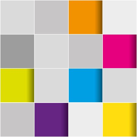 3D Background with pattern tiling in many colors