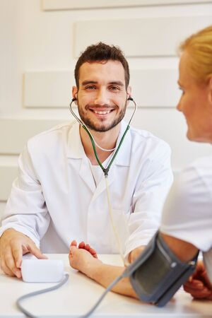 Doctor as medical specialist with patient that trusts him