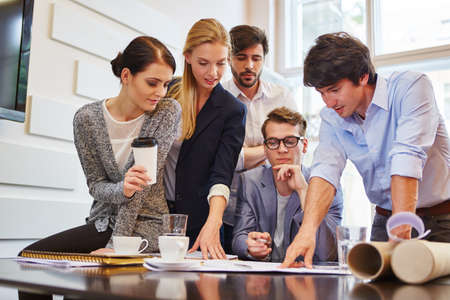 Business people team in workshop planning advice for client