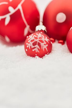 Background with balls as christmas card blank space