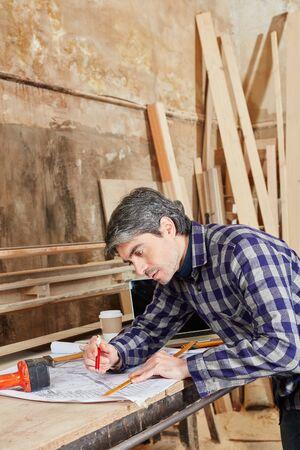 Craftsman as artisan planning architectural drawing