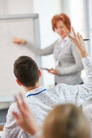 People searching for ideas in business training at start-up Stock Photo