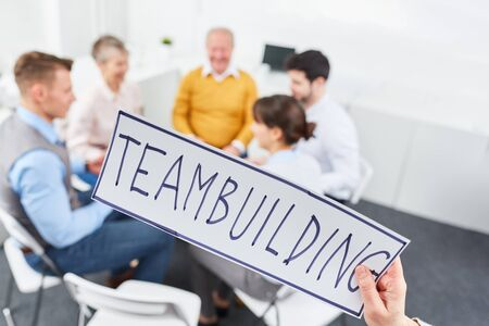 Team building meeting concept for business training motivation Standard-Bild
