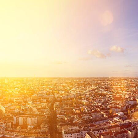 Berlin City skyline on a sunny day from above Stock Photo