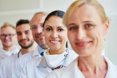 Doctors and nurses as successful MTA team Stock Photo