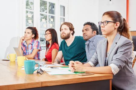 Startup business team in a seminar presentation