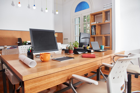 Place of work at coworking business office company