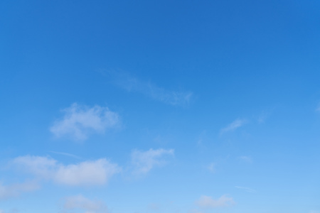 Blue sky with few white clouds in the day