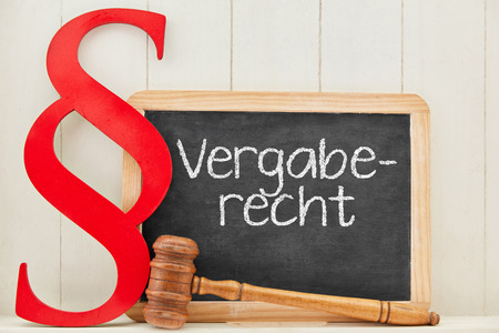 German word Vergaberecht (procurement law) as concept for public contracts and tenders 写真素材