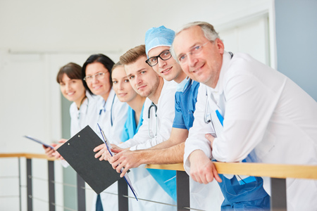 Team of doctors with experience and hospital medical specialists