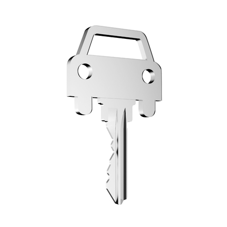 Car key with car icon as concept for buying a new car (3D Rendering) Stock fotó