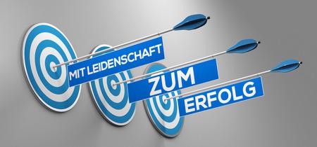 Arrows with German slogan