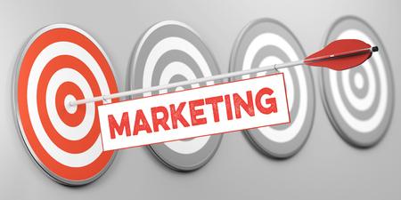 Marketing as branding goal for business advertising concept (3D Rendering) Banco de Imagens - 118597791