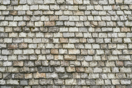 Roof of many old slate stones as a background texture Stock Photo - 119330524
