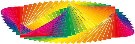 Banner and panorama pattern of many staggered colors snippets