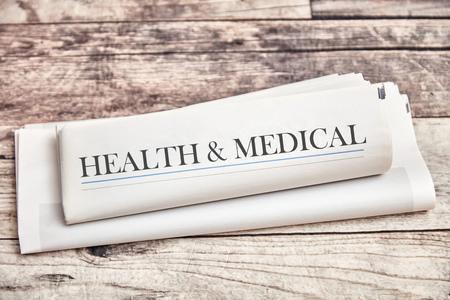 Health & Medical Newspaper for Healthcare News Imagens