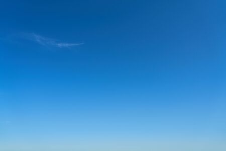 Cloudless blue sky in the day in summer