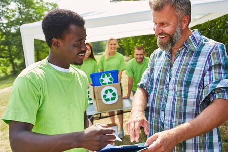 Nature conservation volunteer in public relations for a recycling project