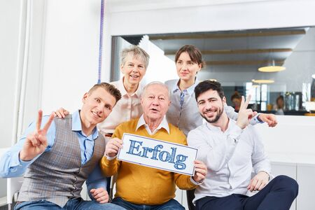 Business team with german slogan