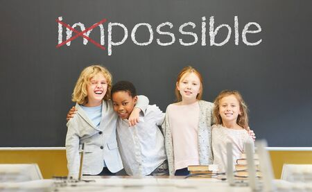 From impossible to possible as a success concept Stockfoto