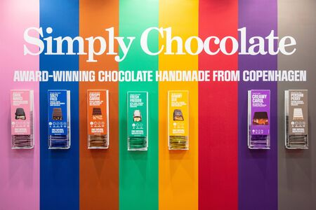 COLOGNE, February 2020: Simply Chocolate on display at ISM trade fair