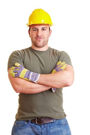 Portrait of a construction worker with crossed arms