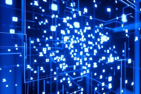 Viele binäre Zahlen als Cyberspace Technologie Hintergrund