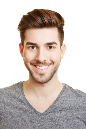 Application photo of a young attractive laughing man