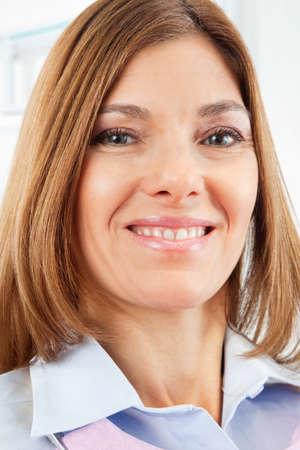 Portrait of an elderly patient at the dentist Stock fotó