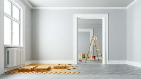 Lay parquet and renovate prior to moving into an old apartment