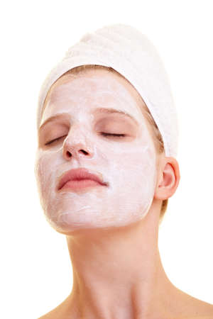 Beautiful woman with face mask