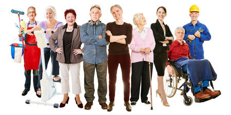 Many different people active in old age as a concept for generations and society