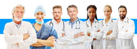 Doctors of different ages as a clinic, practice or study concept