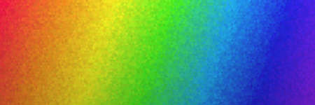 Low poly polygon background pattern in colorful rainbow colors as a header