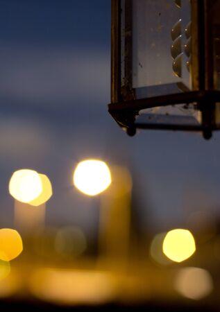 Porchlight at night