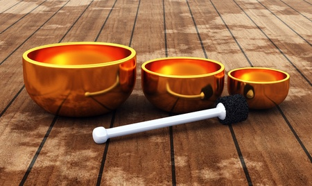 music therapy: T�bet - ZEN Singing Bowl   Foto de archivo