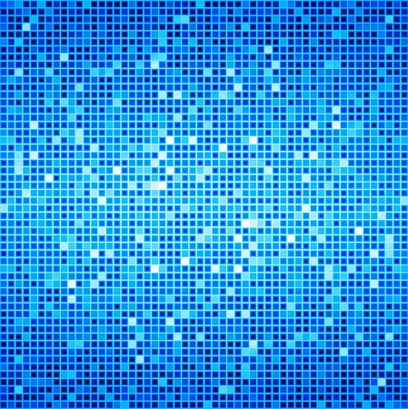 abstractly: Blue Ocean Disco Matrix Background Stock Photo