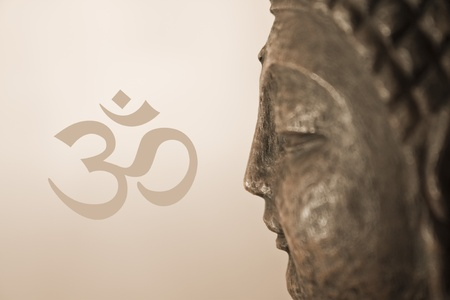 oneness: OM Buddha Stock Photo