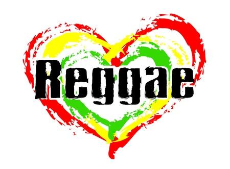 reggae: Signe de Love Reggae pour v�ritable Rastafari Banque d'images