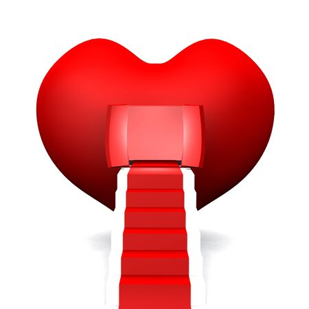Big red heart with stairs photo