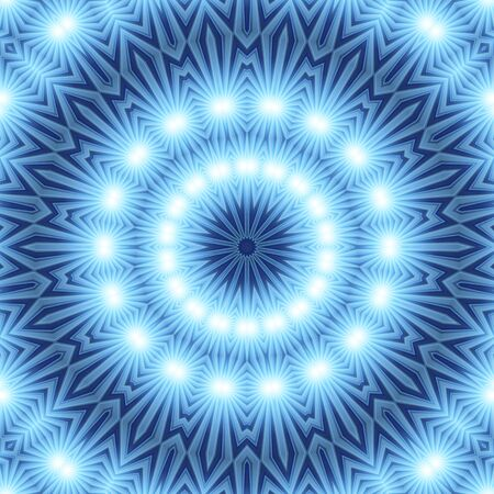 Blue white Mandala for enlightenment Stock Photo - 8496736