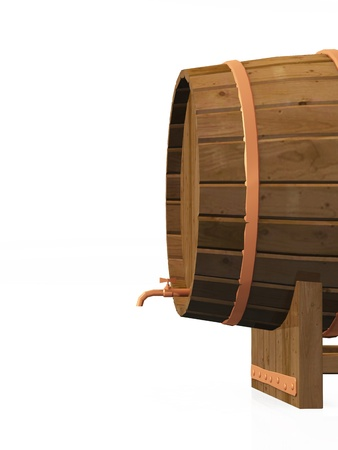 abstractly: 3D barrel on white background