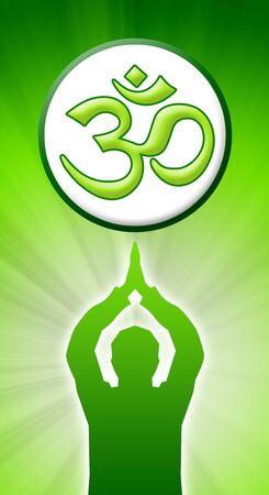 brahman: meditating man with om sign