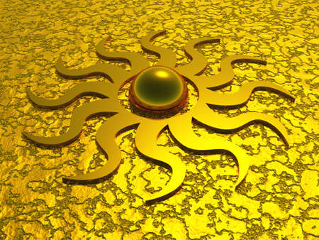 3D sun symbol Stock Photo - 8565171