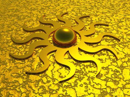 oneness: Simbolo del sole 3D
